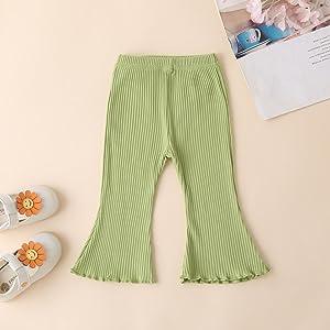 Rib Knit Flare Pants