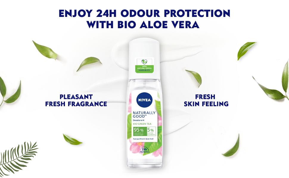 NIVEA,Deodorant,Fragrance,Fresh,Natural,Green Tea,Woomen