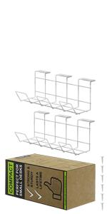 Under Desk Cable Management Tray White