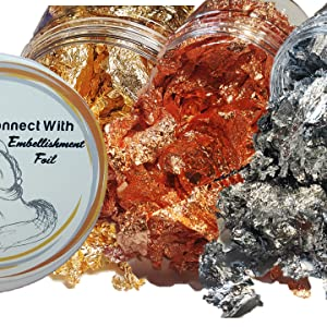 gold copper silver foil flakes