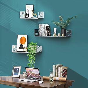 U Shape Floating Shelves