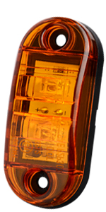 Oval Led Side Marker Light Diode Mini Led Light Universal 12-24V