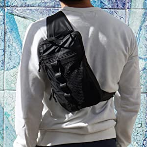 Sling bag adventure set packing cubes