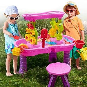 Multi-purpose water toys table