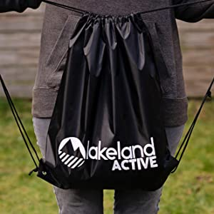 Drawstring gym bag sports PE kit foldable lightweight backpack durable cool unisex classic premium
