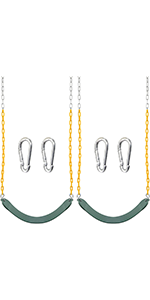 2 Green Swing Seat Heavy Duty 66 inches Chain
