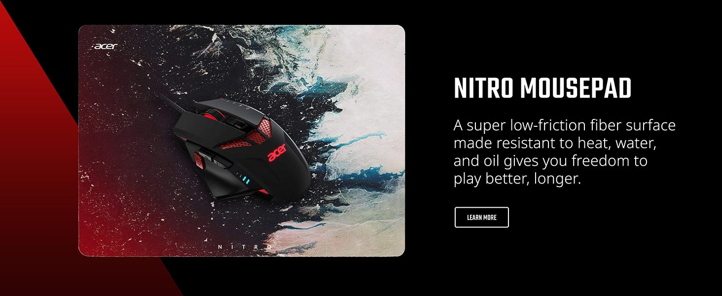mousepad mouse pad low friction surface heat water oil resistant durable acer gaming