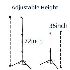 Adjustable Height 36-72in