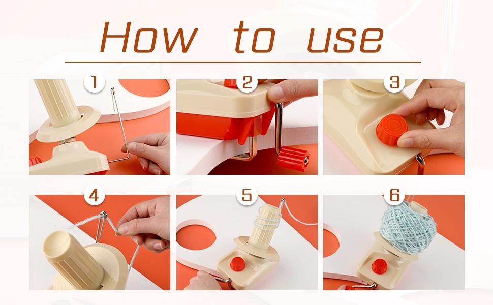 Convenient Ball Winder for Yarn