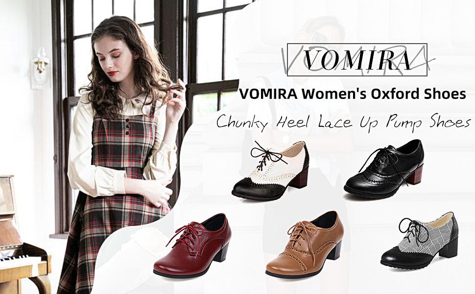 VOMIRA Women's Oxford Shoes