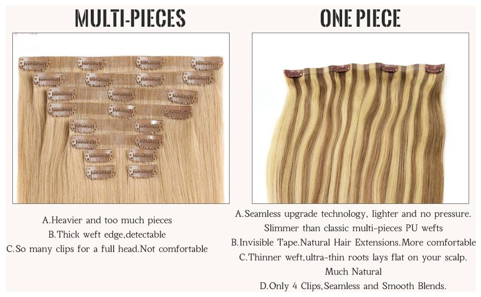 Skin Weft Clip in Hair Extensions