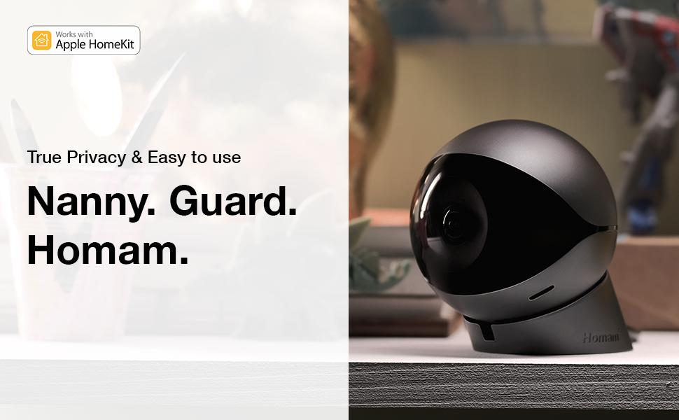 Homam 64GB – Pet amp; Baby Monitor, Security amp; Smart Home Camera.