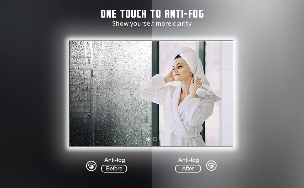 One touch to anti fog