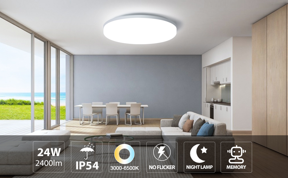 led wireless ceiling light Living Room Bedroom lights ceiling Mount Dimmable remote control light