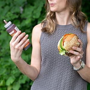 Vegan BBQ sauce for hamburgers