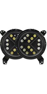 9 inch led JL headlights