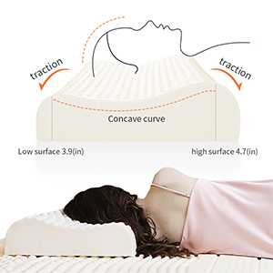 Contour Pillow Natural Massage Latex Pillow Cervical Pillow Bed Pillows Organic Foam Pillows