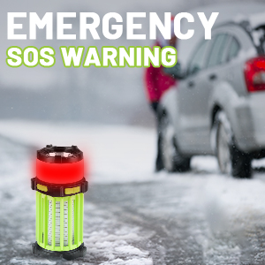 SOS strobe warning light on outdoor emergency occasions