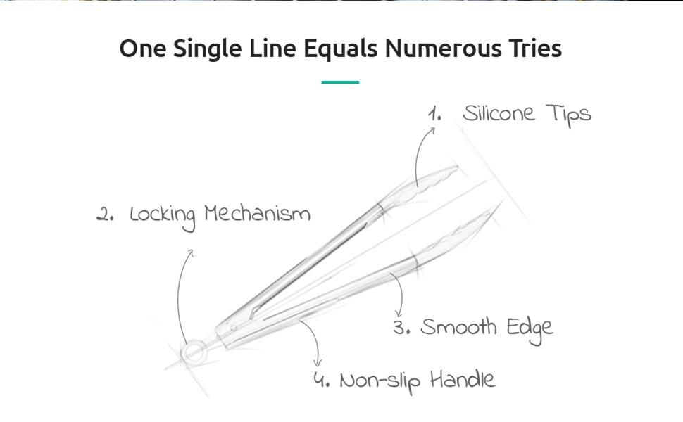 Non-Stick Silicone Tongs