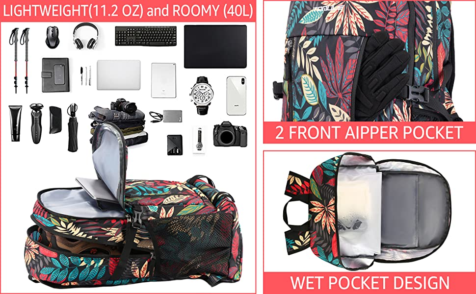 Casual Traveling Backpack for Men Women Comfort Sports Daypack Foldable Climbing Backpack