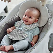 Baby in swing bouncer