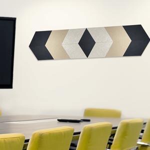 rhombus Acoustic panels in meeting room