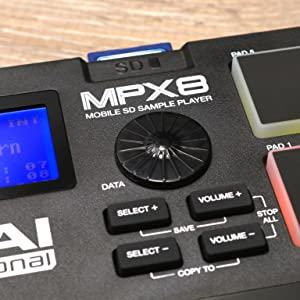 MPX 8 MOBILE SD SAMPLE PLAYER