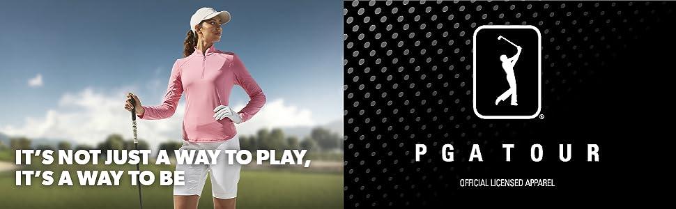PGAT womens polo banner