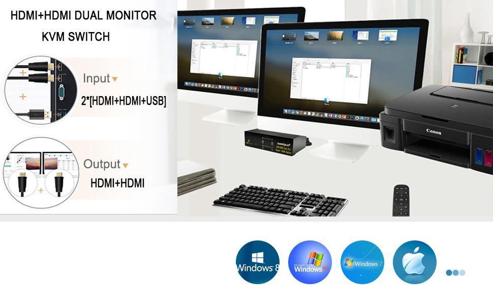 kvm switcn dual monitor