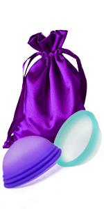 Ecoblossom Reusable Menstrual Disc - Set of 2 Menstrual Cup - Soft Period Disc