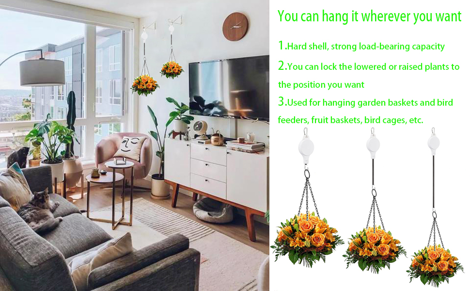 Advantages for pulley hanger