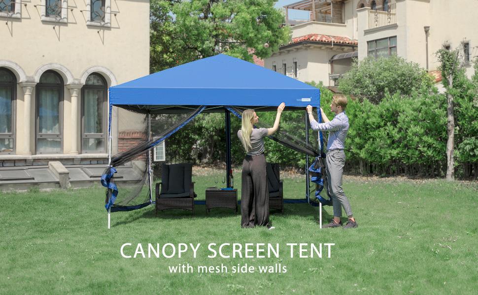 tent blue big banner