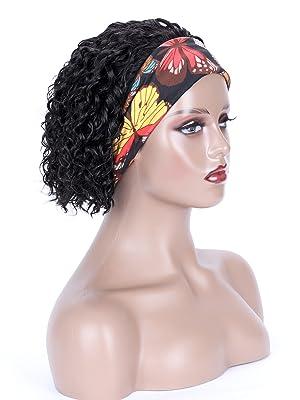 8 inch headband wig