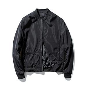 Guanzizai Menamp;#39;s Lightweight bomber jacket Softshell outwear Zipper Windbreaker Flight Coat Black
