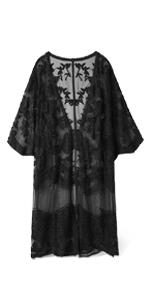 Beach Wear Cover Up Kimono with Half Sleeves