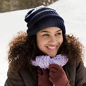 Soft Slouchy Warm Hat for Womens