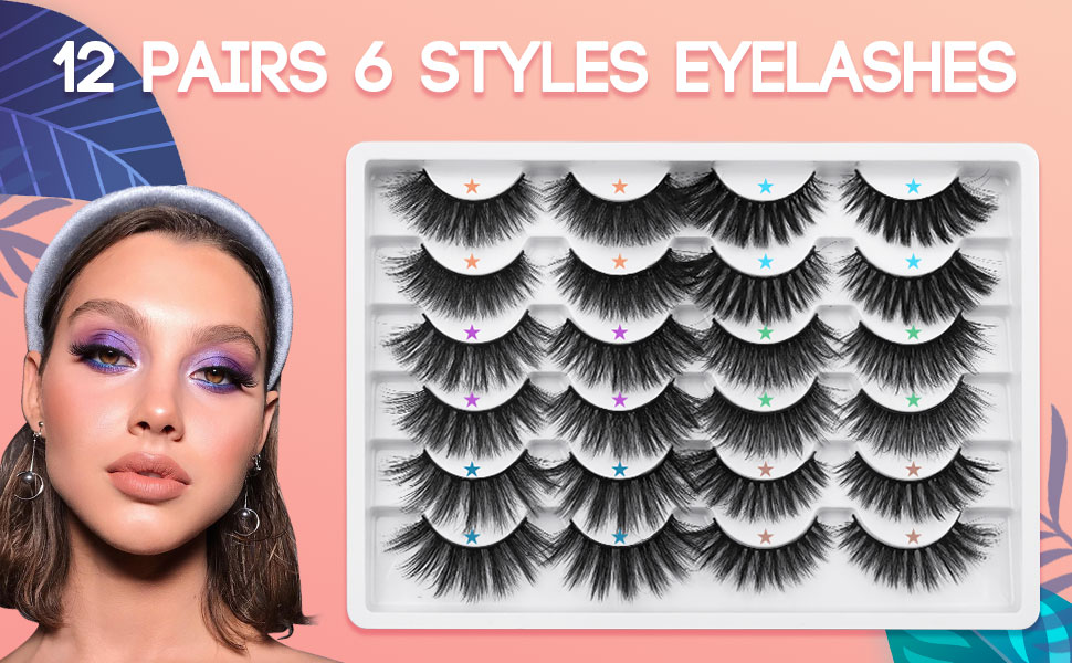 6D Thick Fluffy Faux Mink eyelashes
