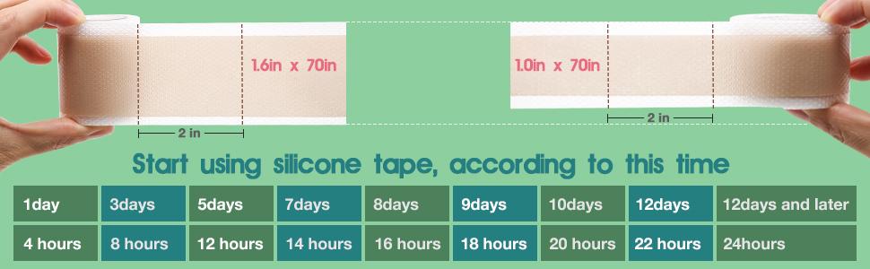 scar silicone tape