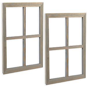 Ilyapa Wood Window Panes Set