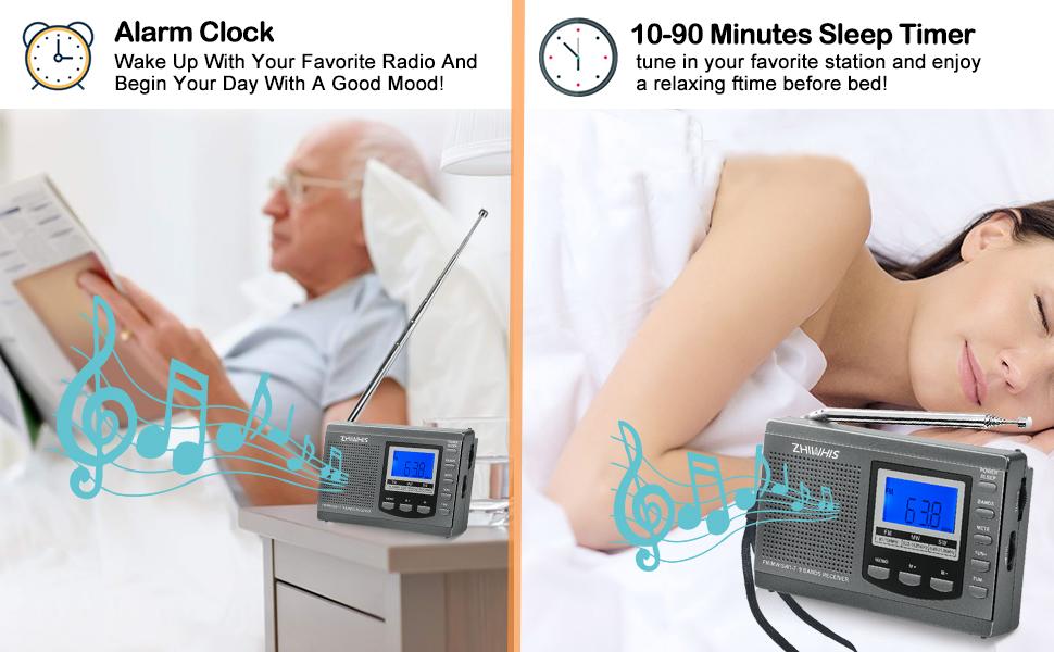sleep timer Radio and clock Radios