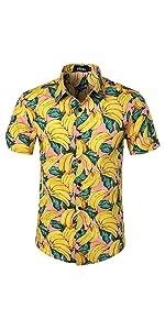 banana shirts hawaiian Loud Fruit Fancy Beach summer holiday