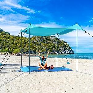 large pop up beach canopy neeso tent nesa ninja suit men sunshade open tents shade portable