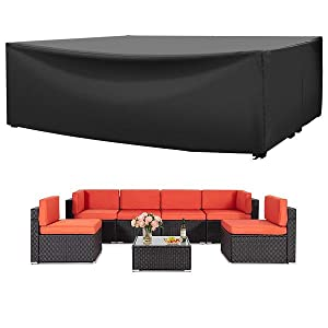 128 large patio furniture set cover waterproof