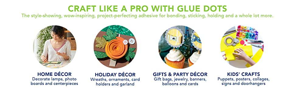 Uses of glue dots