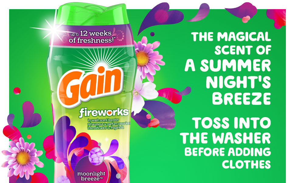 The magical scent of a summer night's breeze Toss into the washer before adding clothes