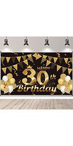 30th birthday banner 30th birthday decorations for him