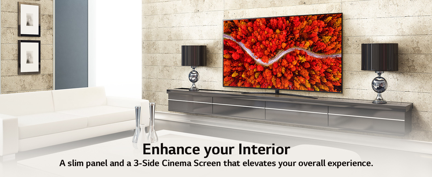 UHD 3 side cinema screen