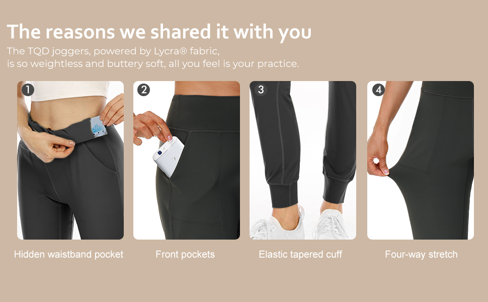 black yoga pants for women high waist jogger sweatpants for women black joggers with pockets pants