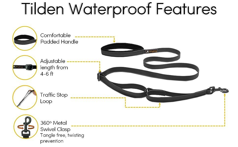 ollydog waterproof tilden leash