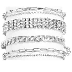 nanafast silver/gold ankle bracelets for women